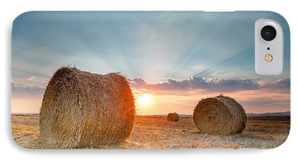 Sunset Bales Phone Case by Evgeni Dinev