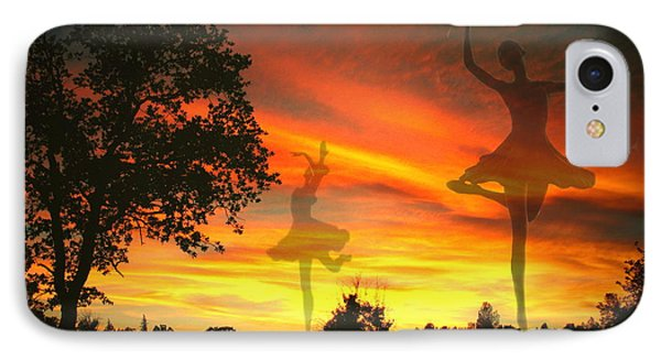 Sunset Ballerina Phone Case by Joyce Dickens