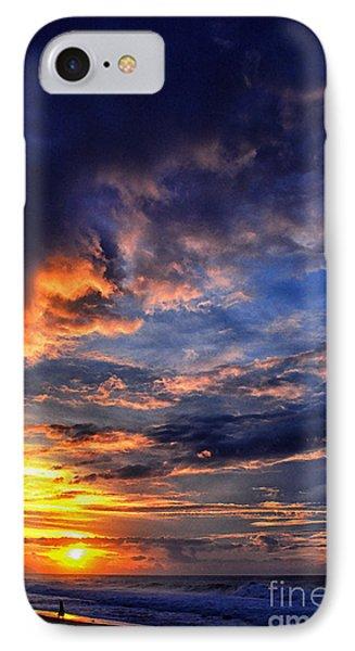 Sunset Banzai Beach  IPhone Case by Thomas R Fletcher