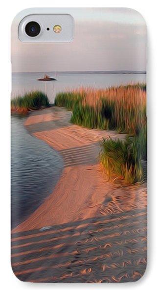 IPhone Case featuring the digital art Sunset Beach by Kelvin Booker