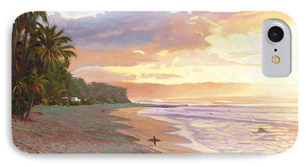 Sunset Beach - Oahu Phone Case by Steve Simon