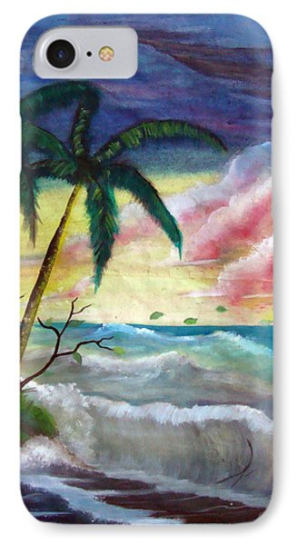 Sunset Beach Phone Case by Richard Bantigue