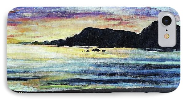 IPhone Case featuring the painting Sunset Beach by Shana Rowe Jackson