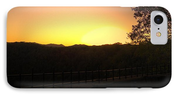 IPhone Case featuring the photograph Sunset Behind Hills by Jonny D