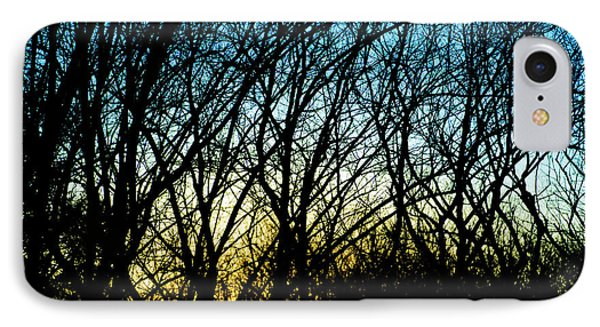 Sunset Behind Trees IPhone Case