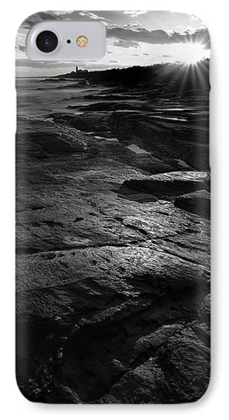 Sunset Beyond Black And White IPhone Case