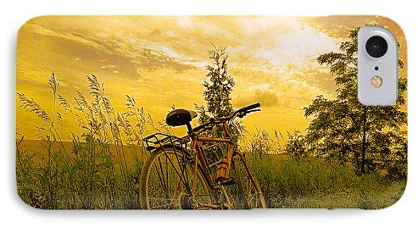 Sunset Biking IPhone Case