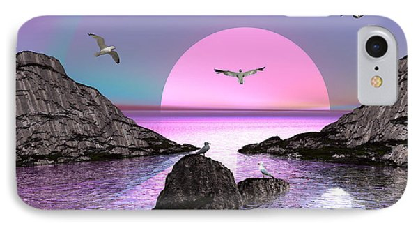 Sunset Birds In Flight IPhone Case