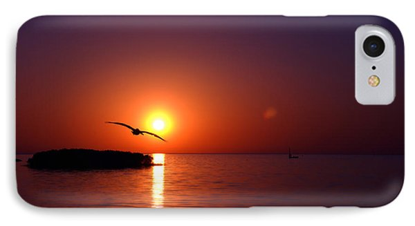 Sunset Blue IPhone Case by Beverly Stapleton