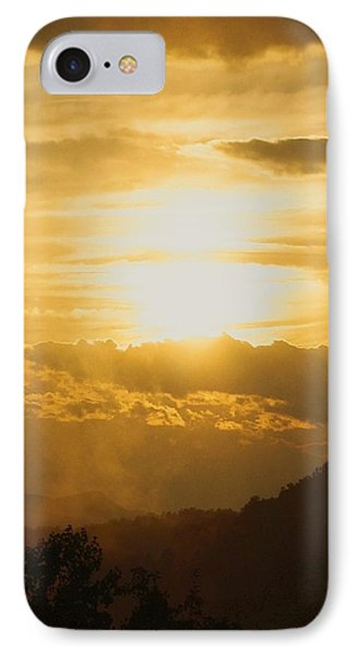 IPhone Case featuring the photograph Sunset - Blue Ridge Mountains by Photographic Arts And Design Studio