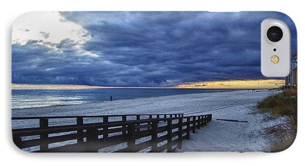 Sunset Boardwalk Phone Case by Michael Thomas