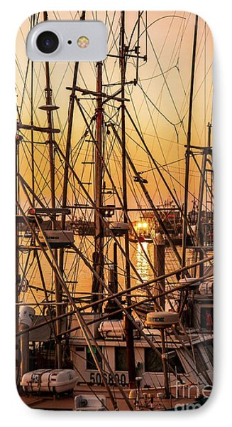 Sunset Boat Masts At Dock Morro Bay Marina Fine Art Photography Print Sale IPhone Case