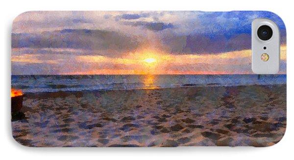 Sunset Bonfire On The Beach IPhone Case