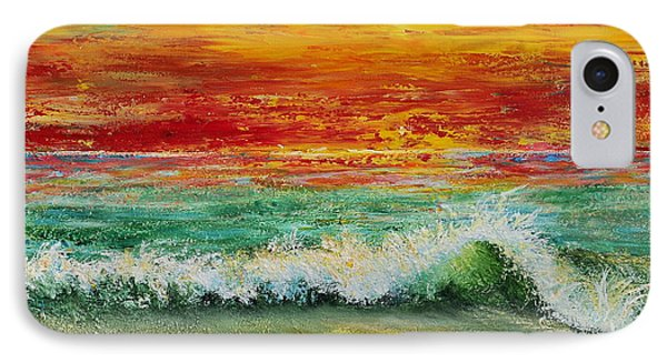 IPhone Case featuring the painting Sunset Breeze by Teresa Wegrzyn