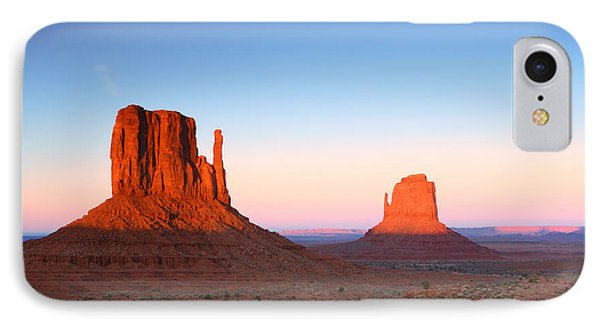Sunset Buttes In Monument Valley Arizona Phone Case by Katrina Brown