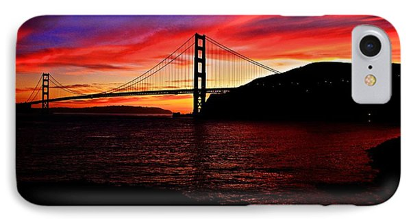 Sunset By The Bay IPhone Case by Dave Files