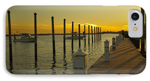 IPhone Case featuring the photograph Sunset By The Marina One by Jose Oquendo