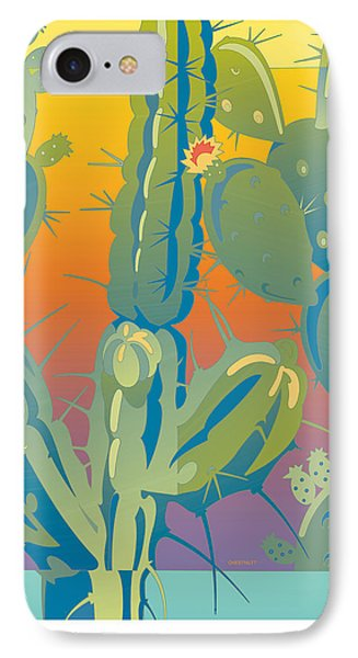 Sunset Cactus IPhone Case