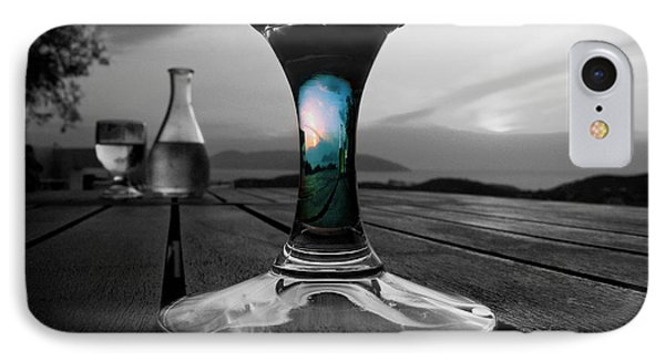 Sunset Cafe IPhone Case by Micki Findlay