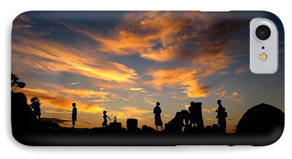 Sunset Camp IPhone Case by Donnie Freeman