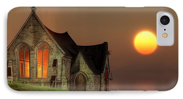 Sunset Chapel By The Sea IPhone Case