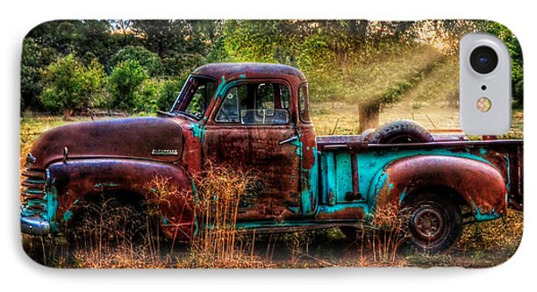 Sunset Chevy Pickup IPhone Case by Ken Smith