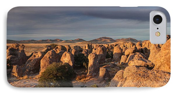 IPhone Case featuring the photograph Sunset City Of Rocks by Martin Konopacki
