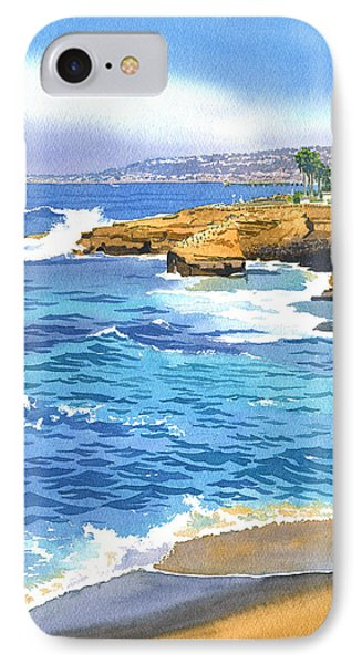 Pacific Ocean iPhone 7 Case - Sunset Cliffs Point Loma by Mary Helmreich