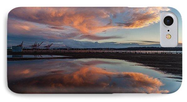 Sunset Clouds Flourish IPhone Case