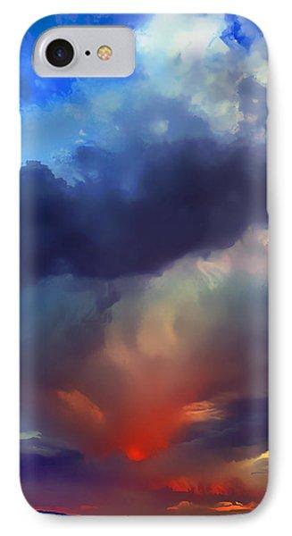 Sunset Clouds Over Albuquerque IPhone Case by Wernher Krutein