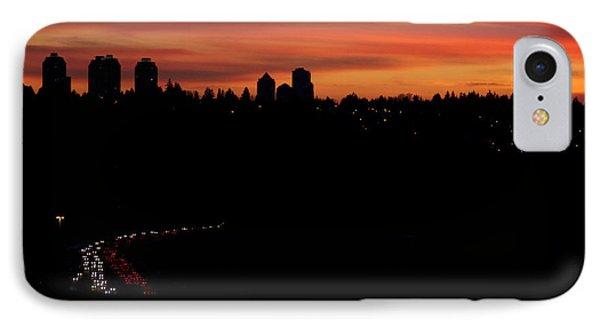 Sunset Commuters IPhone Case by Lisa Knechtel