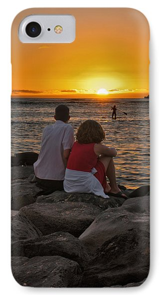 IPhone Case featuring the photograph Sunset Moment by John Swartz