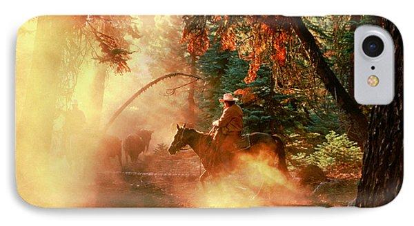 Sunset Cowboy Phone Case by Diane Bohna