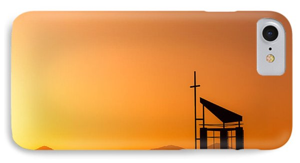 Sunset Cross IPhone Case by Teri Virbickis