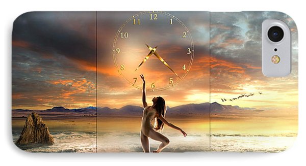 IPhone Case featuring the digital art Sunset Dancing by Franziskus Pfleghart