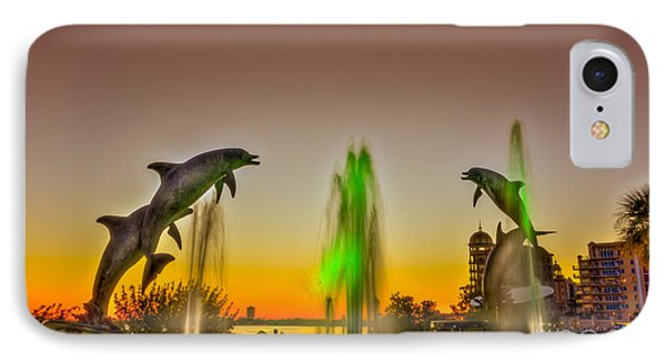 Sunset Dolphins IPhone Case