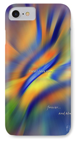 Sunset Dreams I Will Love You Forever  IPhone Case by Cathy  Beharriell