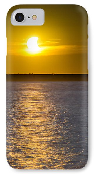 Sunset Eclipse IPhone Case by Chris Bordeleau