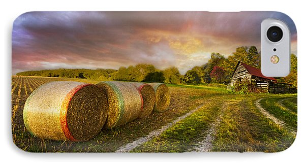 Sunset Farm Phone Case by Debra and Dave Vanderlaan