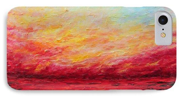 Sunset Fiery Phone Case by Teresa Wegrzyn
