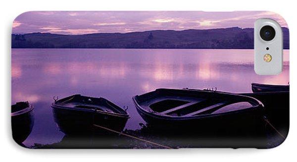 Sunset Fishing Boats Loch Awe Scotland IPhone Case