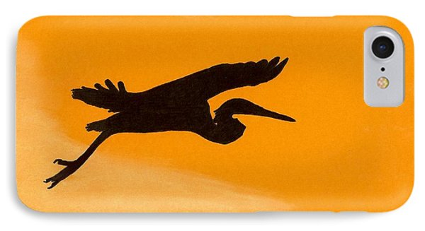 IPhone Case featuring the drawing Sunset Flight by D Hackett