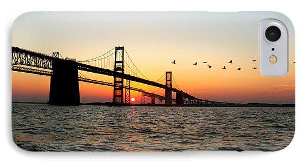 IPhone Case featuring the photograph Sunset Flight by Jennifer Casey