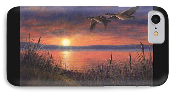 Sunset Flight IPhone Case by Kim Lockman