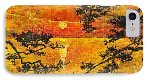 IPhone Case featuring the painting Sunset For My Parents by Teresa Wegrzyn