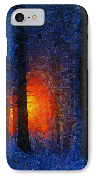 Sunset Forest Winter IPhone Case by Georgi Dimitrov