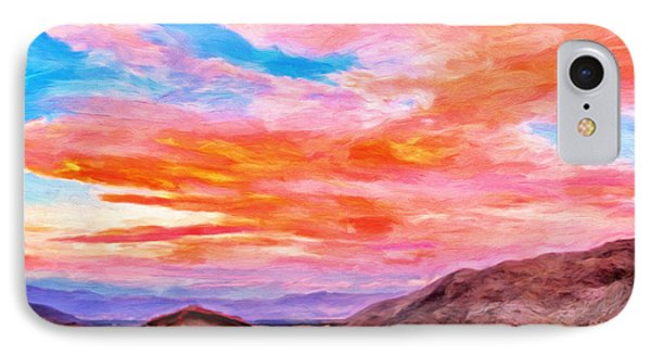 Sunset From Palm Canyon Phone Case by Michael Pickett