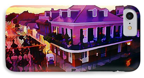 Sunset From The Balcony In The French Quarter Of New Orleans Phone Case by John Malone