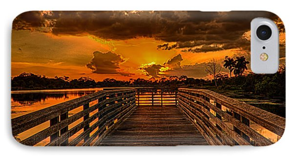 Sunset From The Dock IPhone Case by Don Durfee