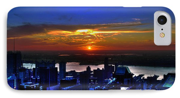 Sunset From The Empire State Building Phone Case by Randy Aveille
